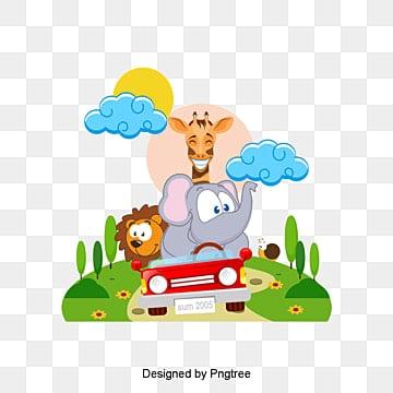 Le matériau de dessin d'enfants, Le Printemps, Fleur, Un éléphantPNG et vecteur