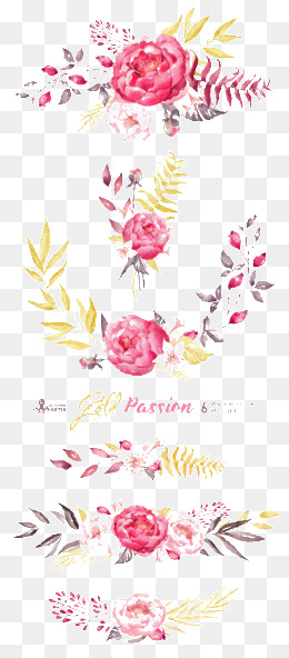 flowers, Pink Flowers, -painted Flowers, Watercolor Flower PNG Image