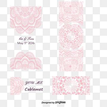 Romantic wedding invitation pink pattern, Romantic, Wedding Invitation, Pink Pattern PNG and Vector
