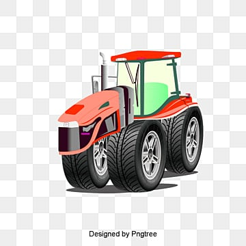 Cartoon Tractor, Cartoon Tractor, Cartoon, Tractor PNG and Vector
