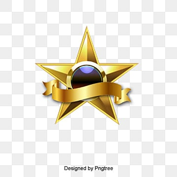 Golden Star, Golden, Luxury, Ribbon PNG and Vector