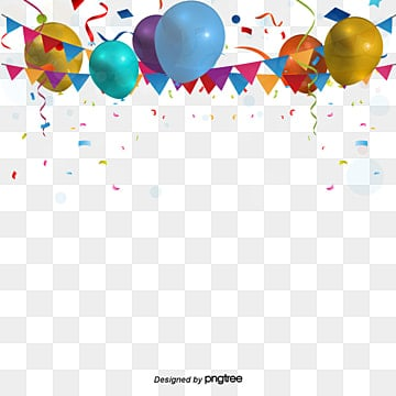 Celebration Background, Colored Ribbon, Carnival Decorations, Balloon PNG and Vector