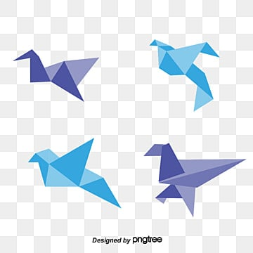 Origami Birds Vector Material Style Asuka PNG And
