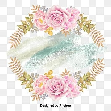 hand painted garlands, Watercolor Flowers, Flowersround, Gray Flowers PNG and PSD