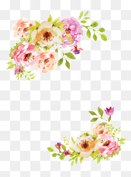 Hand-painted watercolor flower decoration, Decorative Flowers, Hand-painted Flowers Frame, Vector Watercolor Flower PNG and Vector