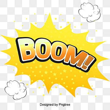 BOOM Comic Explosion Vector Cloud, Vector, Cartoon, Cloud Explosion PNG and Vector