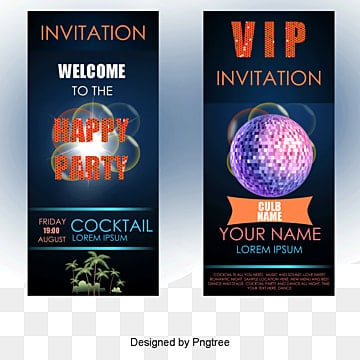 VIP Diba creative advertising design vector material, Posters, Music, Passion Party PNG and Vector