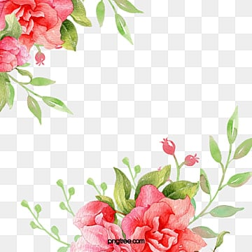 Flowers Background Flower Clipart Watercolor PNG Image And
