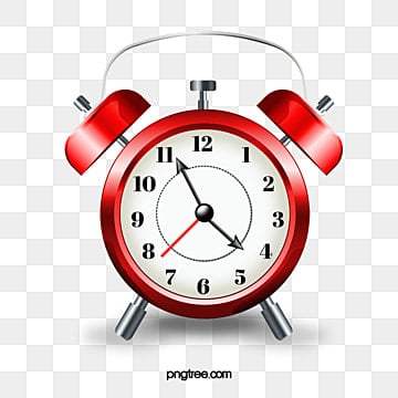 Clock alarm. Png vector psd and