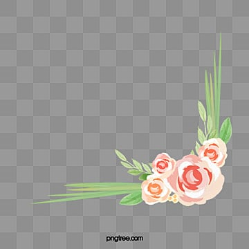 Watercolor Lace Angle Flower Corner PNG Image And Clipart