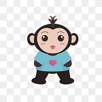 Happy Little Monkey, Cartoon Comics, Ilustración Animales, Animales De Dibujos Animados PNG y Vector
