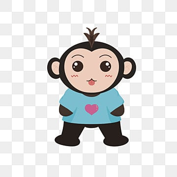Feliz do Macaco, Caricatura DOS Desenhos Animados De Animais, Ilustração De Animais, Animais DOS Desenhos AnimadosPNG e Vector