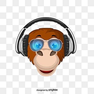 Ouvir música., Caricatura DOS Desenhos Animados De Animais, Ilustração De Animais, Animais DOS Desenhos AnimadosPNG e Vector