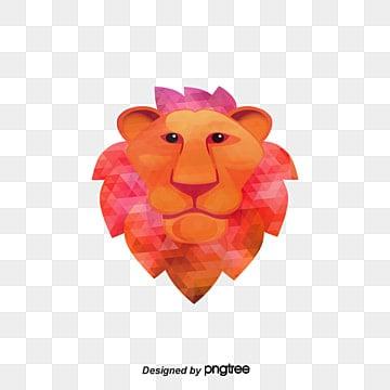 Vector màu con sư tử, Đường Nét, Sư Tử., Sư Tử Vector png và vector