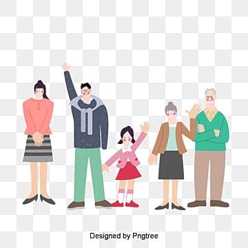 Vector de família Feliz., Ilustrador De Personagens, Personagens De Desenhos Animados, PersonagensPNG e Vector