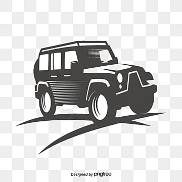 Creative SUV advertising illustrator vector material, Jeep Icon, SUV Logo, SUV Car PNG and PSD