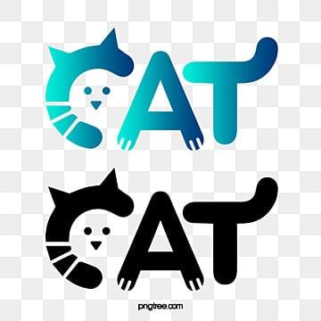 Cute cat logo, Vector Cat Logo, Creative Cat Logo, Animal Logo PNG and Vector