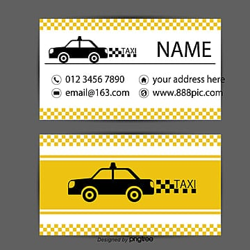 Taxi Business Card PNG And Vector