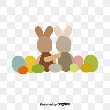 Exquisite Easter Ad Elements Bunnies Toy PNG And PSD