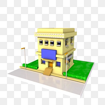 3d House, 3d House, Houses, Three Dimensional House PNG Image And Clipart