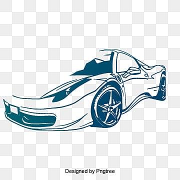 Roadster bleu de vecteur, Voiture De Sport, Dessin De Voiture De Sport, La Voiture De Sport De VecteurPNG et vecteur