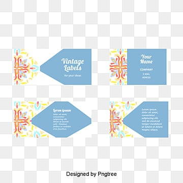 Flower pattern business card Free PNG and PSD