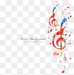 Vector musical notes background, Note, Background Notes, Color Notes PNG Image