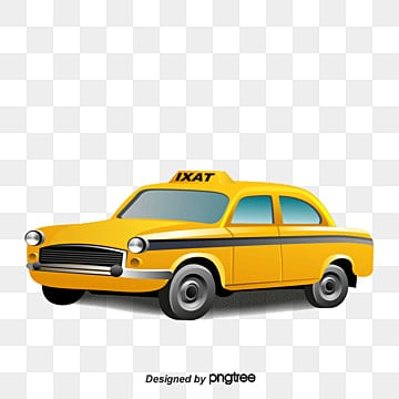 Yellow car, Yellow Car, Yellow Taxi, Vector PNG and Vector