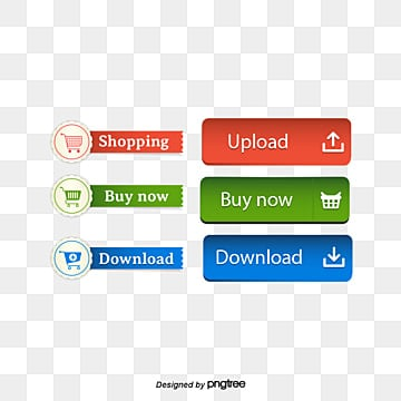 Shopping button download button Free PNG and PSD
