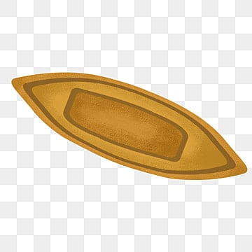 Wooden Boat Paddle Yellow PNG Image