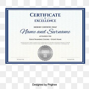 vector blue border certificate