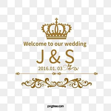 European-style wedding material, Imperial Crown, Euporean Pattern, European-style Wedding Logo PNG Image