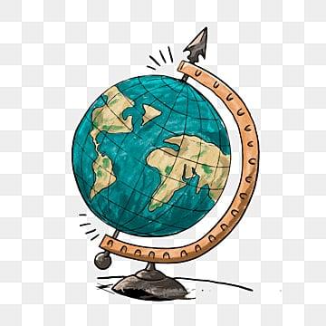 Cartoon world globe travel architecture, Cartoon Clipart, Earth Clipart, Globe Clipart PNG images and vector graphics