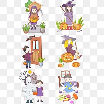 Vector de Halloween DOS desenhos animados de animais, Animais DOS Desenhos Animados De Halloween, O Dia Das Bruxas, Desenhos Animados Do Dia Das BruxasPNG e Vector
