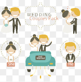 Wedding cartoon renderings