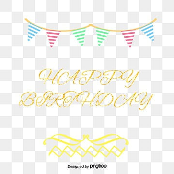 decorative vector retro birthday card, Birthday Clipart, Bunting, Birthday PNG and Vector