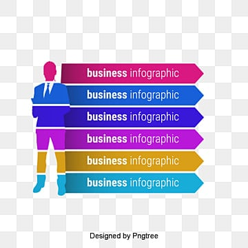 Creative PPT element, Business Man, Arrow, Information Chart PNG and Vector