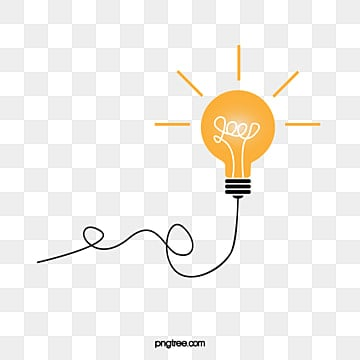 Vector Bulb Idea Thought Light PNG And