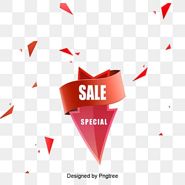 Vector discount sale arrow