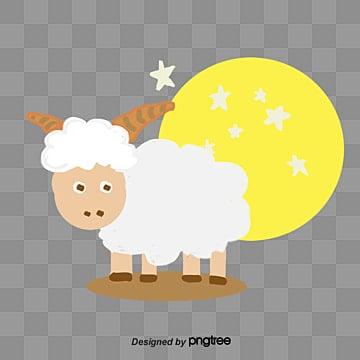 Vector cartoon sheep