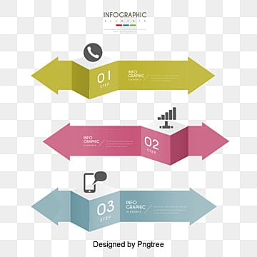 Vector Business infographics vector material, Origami, Arrow, Digital Classification PNG and Vector