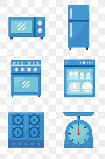 Kitchen Appliances Furniture Household PNG Image And Clipart