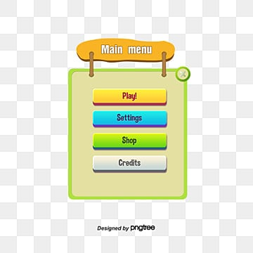 Mobile game interface, Game, Push Button, Menu PNG and PSD