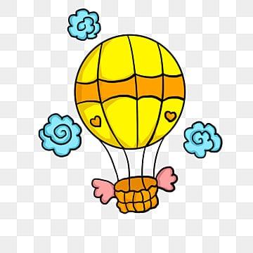 Blue sky hot air balloon, Decoration, Vector, Hot Air Balloon PNG and Vector