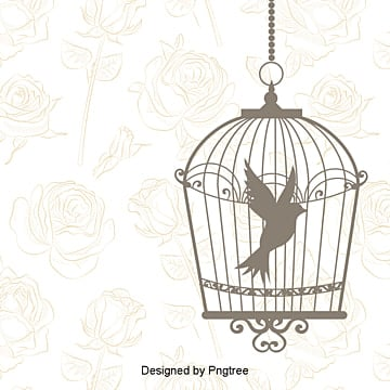 Wedding invitations decorative birds fly FIG double