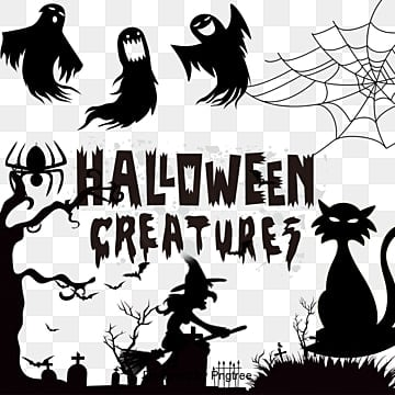 halloween vector material, Vector Halloween, Happy Halloween, Halloween PNG and Vector