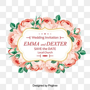 Creative roses invitation design Free PNG and PSD