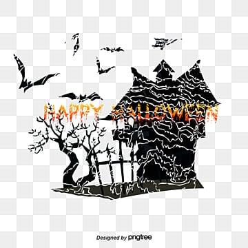 Halloween Castle, Watercolor, Halloween, Castle PNG and Vector