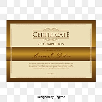 Yellow Pattern Vector European Certificate Honor PNG And PSD