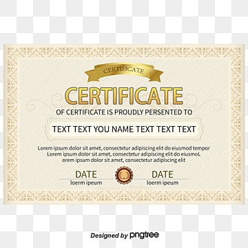 vector brown pattern border certificate